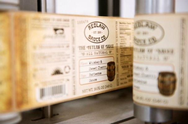 Redlaw Sauce labeling process